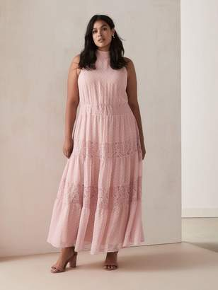Fit & Flare Halter-Neck Maxi Dress