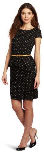 Amy Byer Women's Cap-Sleeve Boat-Neck Peplum Dress