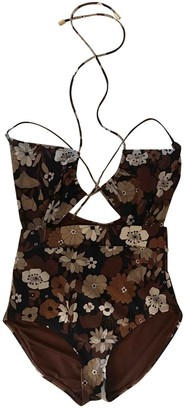 Michael Kors Brown Lycra Swimwear