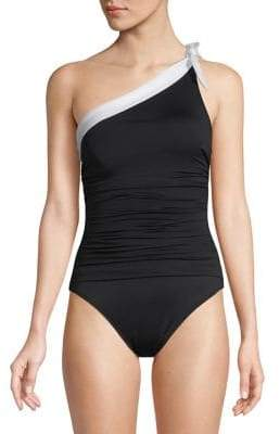 1ee3bd5c737 Lauren Ralph Lauren One-Shoulder One-Piece Swimsuit