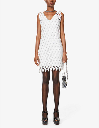 Paco Rabanne V-neck embellished midi dress