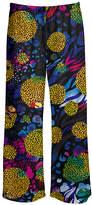 Lily Women's Casual Pants BLK - Black & Yellow Leopard Floral Palazzo Pants - Women & Plus