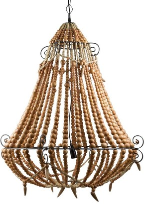Emac & Lawton Beaded Chandelier Large Natural