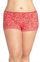 Hanky Panky Plus Size Women's 'Betty' Lace Boyshorts