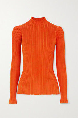 Acne Studios Ribbed Cotton-blend Sweater - Orange