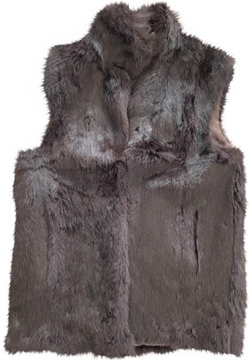 Adrienne Landau Brown Rabbit Coat for Women