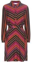 Diane von Furstenberg Chrissie striped silk and wool twill dress