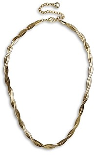 BaubleBar Gia Snake Chain Twist Choker Necklace in Gold Tone, 14-17