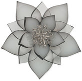 Carolee Silver-Tone Pavé Tinted Resin Flower Pin