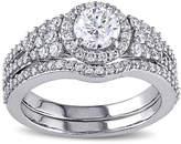 MODERN BRIDE 1 1/2 CT. T.W. Diamond 14K White Gold Ring Set