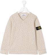 Stone Island Junior - v-neck jumper - kids - Cotton/Polyamide - 6 yrs