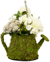 Lillian Rose Moss Watering Can Décor