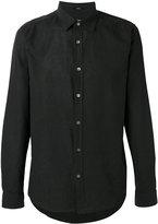 Closed plain shirt - men - Linen/Flax/Cotton - L