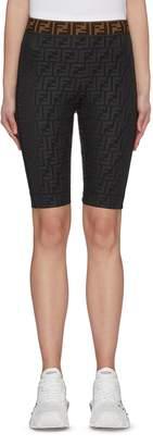 Fendi Sport 'Fendirama' logo print biker shorts