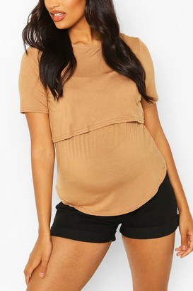 boohoo Maternity Double Layer Nursing Tee