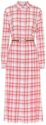 Gabriela Hearst Jane checked cotton shirt dress