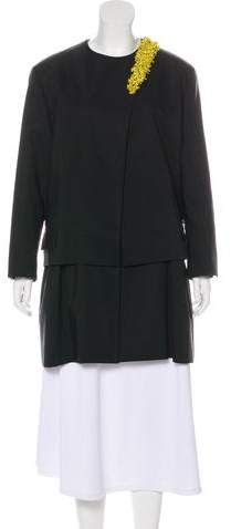 Christian Dior Embellished Layered Coat w/ Tags