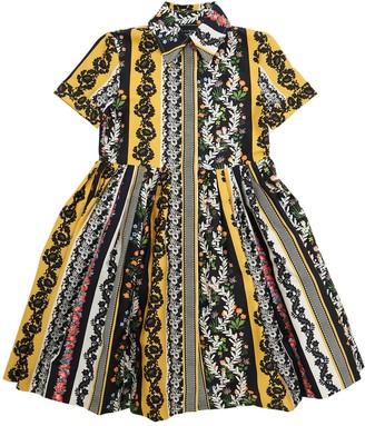 Oscar de la Renta Vintage Patchwork Cotton Dress