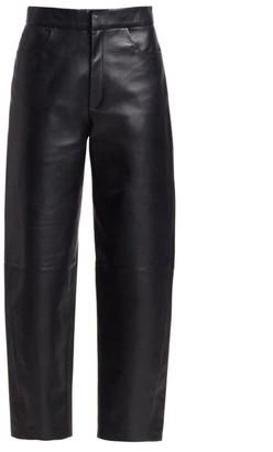Totême Novara Cropped Leather Pants
