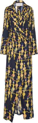 Leal Daccarett Tartufo Full-Length Printed Wrap Dress