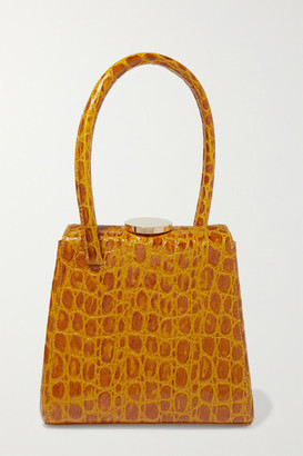 Little Liffner Mademoiselle Croc-effect Leather Tote - Mustard