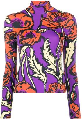 La DoubleJ Big Blooms mock-neck top