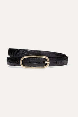 Andersons Anderson's - Lizard-effect Leather Belt - Black