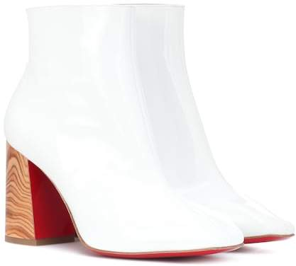 Christian Louboutin Hilconico 85 patent leather ankle boots