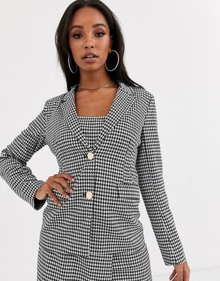 4th + Reckless blazer in houndstooth print