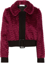 Oscar de la Renta Wool-trimmed mohair and cotton-blend jacket