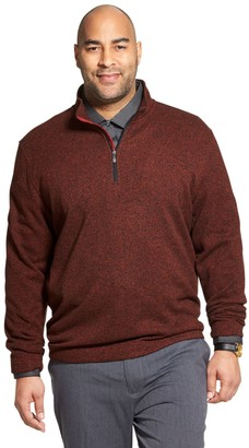 Van Heusen Big & Tall Flex Fleece Quarter-Zip Pullover