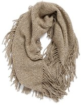 BP Marled Knit Fringe Infinity Scarf
