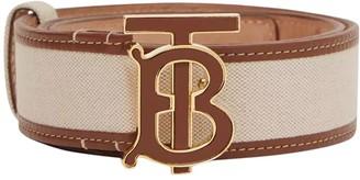Burberry Tb Leather Print Logo Belt