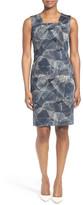 HUGO BOSS &Dokysina& Print Sleeveless Sheath Dress