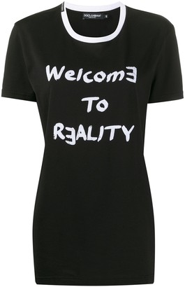 Dolce & Gabbana Welcome To Reality print T-shirt