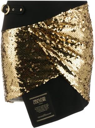 Versace Sequin Asymmetrical Skirt