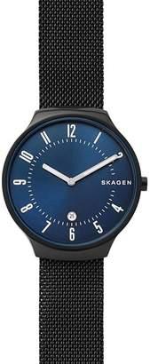 Skagen Green Black Steel-Mesh Watch, 38mm