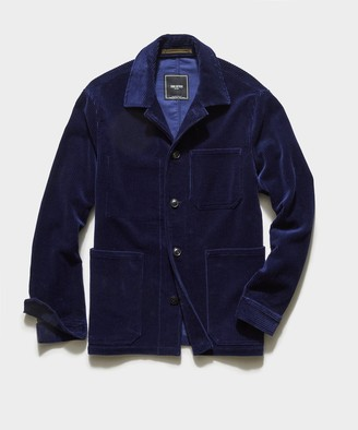 Todd Snyder Italian Corduroy Chore Coat in Baltic Blue