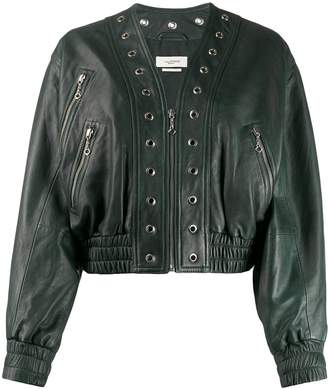Etoile Isabel Marant Qlerie cropped leather jacket