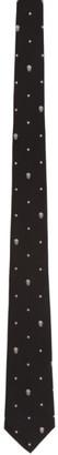 Alexander McQueen Black and White Silk Star Skull Tie