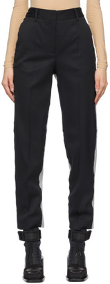 MM6 MAISON MARGIELA Black and Grey Spliced Trousers