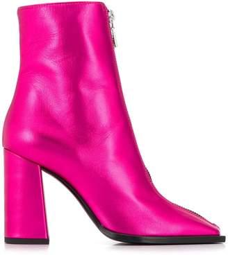 MSGM squared toe metallic boots