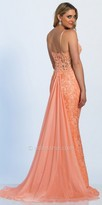 Dave and Johnny Illusion Corset Sequin Lace Prom Dress