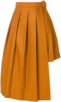 Marios asymmetric pleated skirt