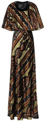 Etro Metallic Printed Devore-velvet Gown