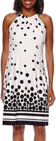 Liz Claiborne Polka Dot Fit-and-Flare Dress