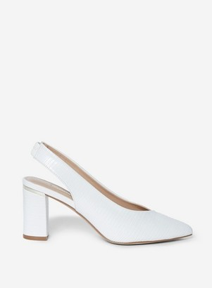 Dorothy Perkins Womens Wide Fit White 'Emily' Court Shoes, White