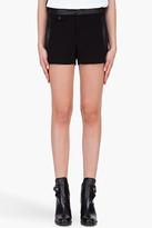 RAG & BONE Black Leather Trim Tatiana Shorts