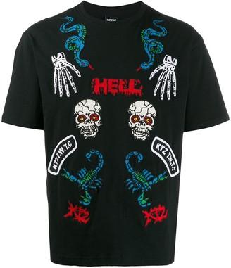 Kokon To Zai Hell print T-shirt