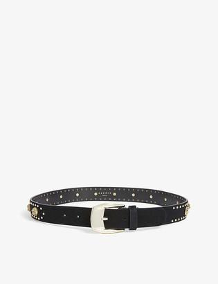 Sandro Chrisly studded leather belt